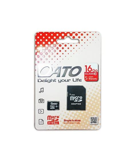 Carte Micro Sd 16 Go 2765 by Carte M 233 Moire Micro Sd Datotek 16 Go Class 10