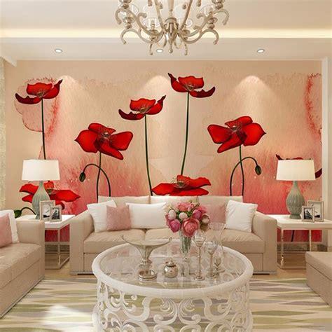 flower wall mural aliexpress buy custom 3d photo wallpaper modern