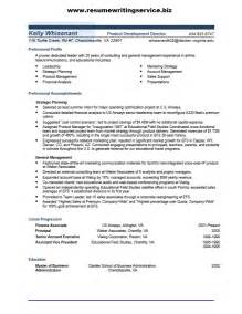 Product Development Executive Sle Resume by Product Development Director Resume Sle Resume