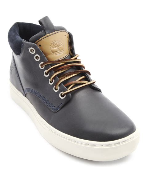blue timberland boots mens timberland earthkeeper blue chukka boots in blue for