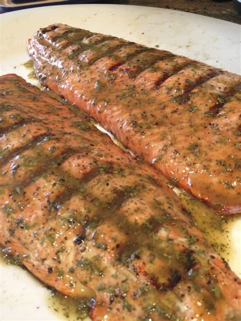 grilled glazed wild copper river sockeye salmon keviniscooking com