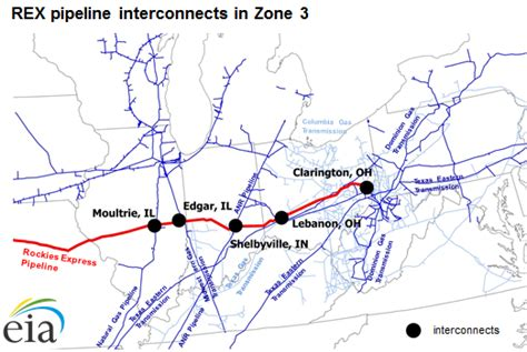texas eastern pipeline map westbound gas flows begin on rockies express pipeline today in energy u s