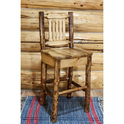 Pine Log Bar Stools by Glacier Country Log Barstool Without Back By Montana