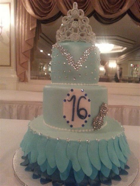 blue sweet sixteen decorations sweet sixteen decorations aqua blue sweet 16 cake my cakes pinterest colors