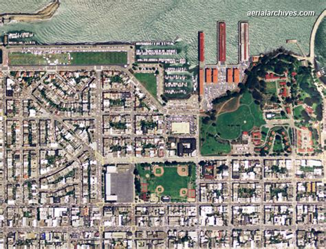 san francisco map marina district aerial maps of san francisco