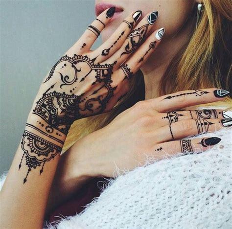 finger tattoo hipster design girl grunge hand hipster pattern pretty
