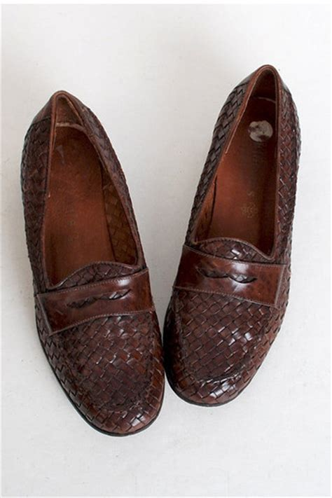 vintage loafers vintage loafers quot size 7 1 2 vintage 90s brown woven