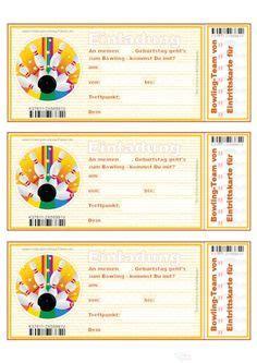 Word Vorlage Urkunde Kegeln Einladungskarten Bowling Zum Kindergeburtstag Kostenlos Ausdrucken Basteln Bowling