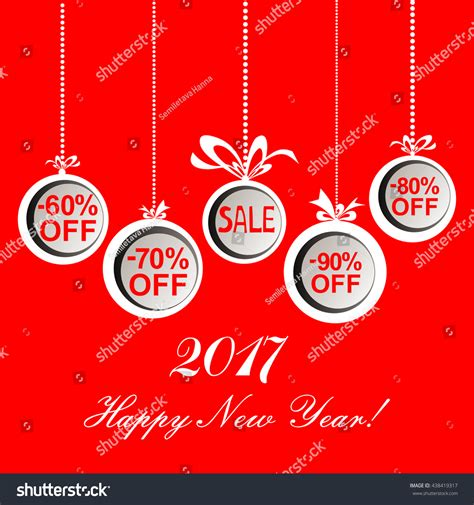 myer new year sale 2017 happy new year sale stock vector 438419317