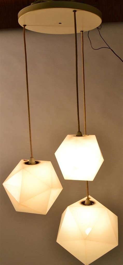 Plastic Pendant Light Plastic Geode Three Light Hanging Fixture By Frederick Raymond At 1stdibs