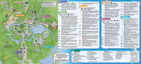 map of animal kingdom january 2016 walt disney world park maps photo 2 of 12