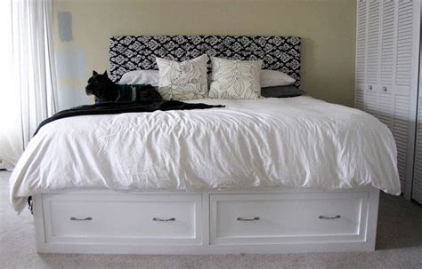 king size storage bed with drawers plans furnitureplans