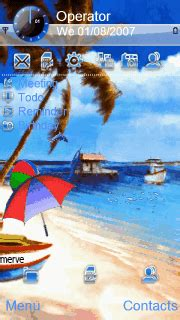 christmas themes for nokia 5233 download beach summer s60v5 theme free nokia themes