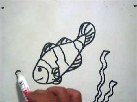 tutorial menggambar katak video belajar menggambar ikan badut doovi