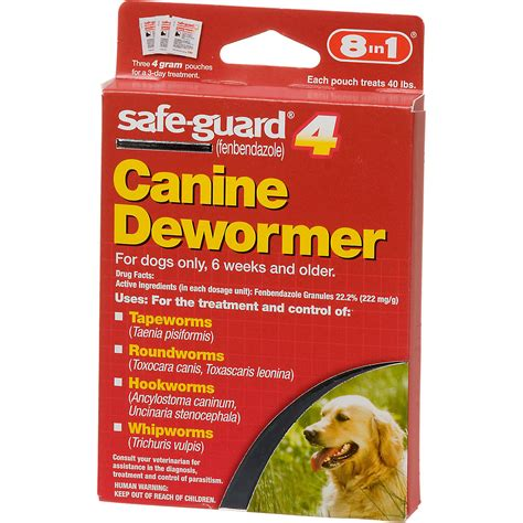 Home Remedies For Deworming Dogs by 8 In 1 Safe Guard 4 Canine Dewormer For Large Dogs Ebay