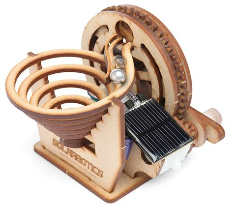 kinetic energy desk toys solarbotics perpetual motion marble kit