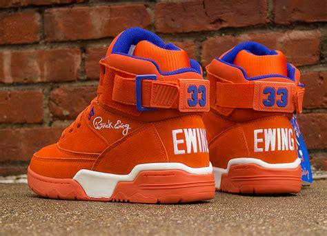 ewing sneakers ewing 33 hi quot orange suede quot sneakernews