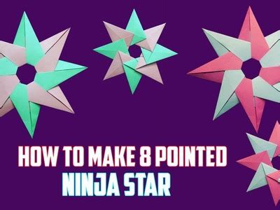 How To Make An Origami 5 Pointed - how to make a paper shuriken origami