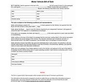 Tennessee Vehicle Bill Of Sale Form  8ws Templates &amp Forms