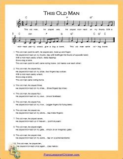 boat man song this old man lyrics videos free sheet music for piano