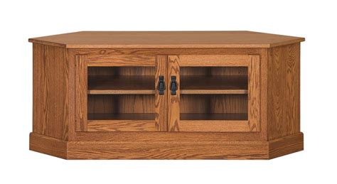 amish 52 quot mission style corner tv stand