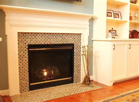 Fresh Interior The Most Glass Tile Fireplace Surround Glass Fireplace Surround