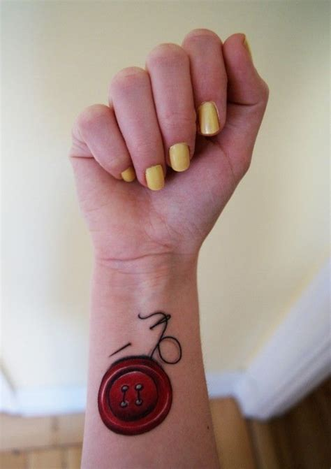 button thread and needle tattoo style pinterest