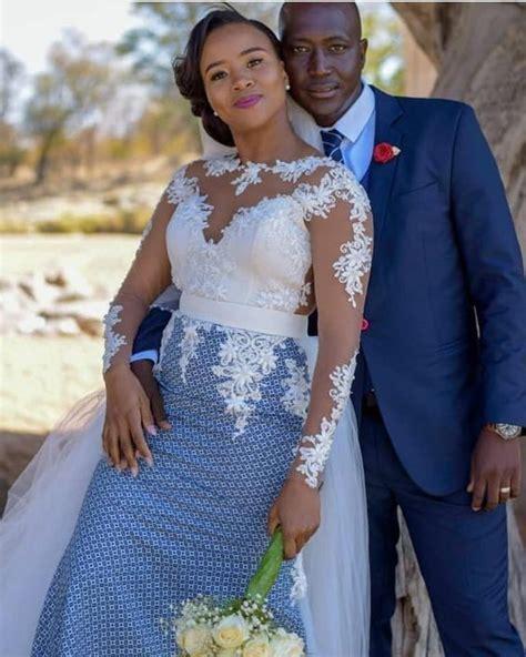 Top Seshweshwe Shweshwe Dresses for a Wedding   Shweshwe