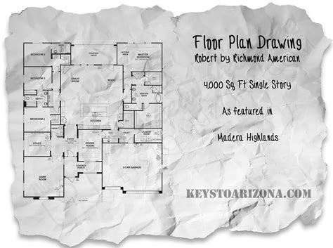 floorplan robert robert floorplan as featured by richmond american homes in the estates madera highlands