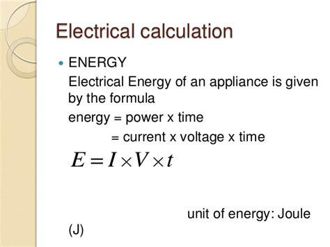 electricity cost formula pratical electricity
