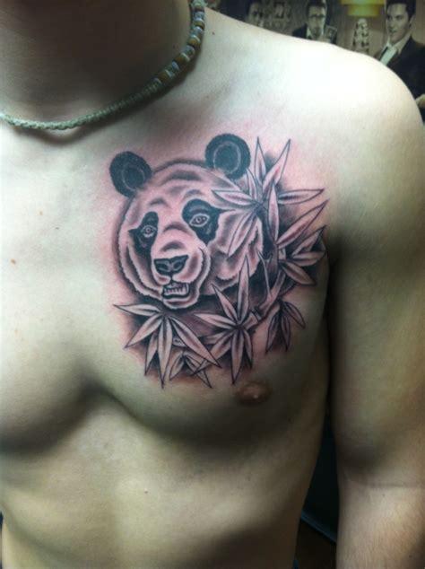 panda tattoo for man abstract panda tattoo on forearm