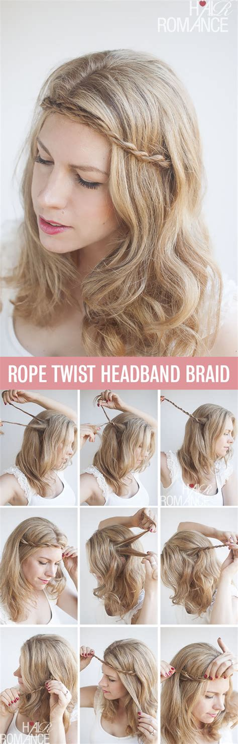 How To Do A Headband Braid Step By Step | twist pin rope braided headband hairstyle tutorial