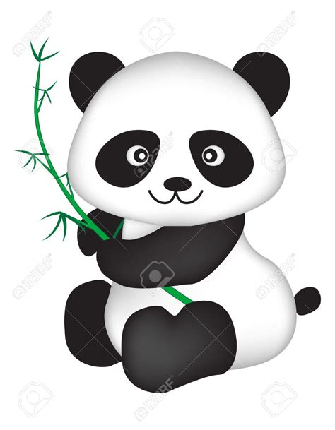 panda clip cards clipart panda pencil and in color cards
