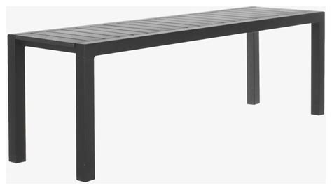 black metal bench outdoor belize metal black garden bench habitatuk modern outdoor benches by habitat