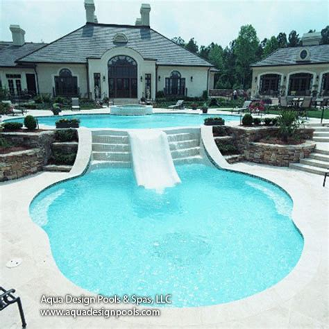 pool designs with slides best 25 pool designs ideas on pinterest swimming pool