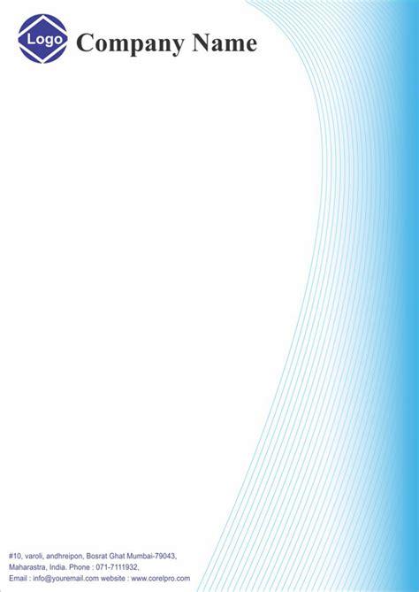 business letterhead corel draw letterhead design cdr format free logo business