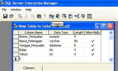 cara membuat database dengan sql server 2000 lan networking tugas bahasa indonesia2 cara membuat trigger di sql server