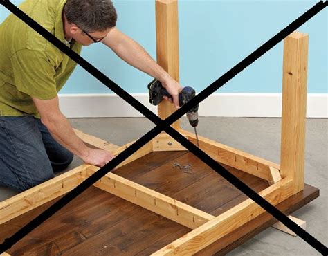 diy attach table legs follow your woodworking don t make a table like this