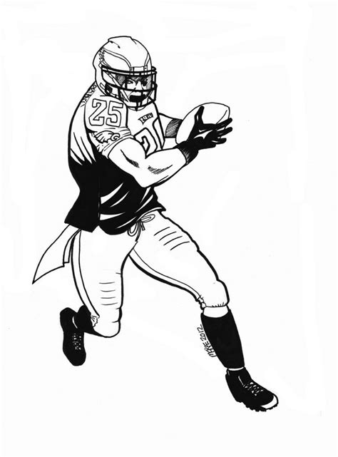 coloring pages of nfl football players 14 images of philadelphia eagles player coloring pages