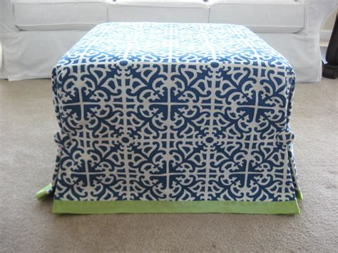 how to make ottoman cover ottoman no sew slip cover mingz blog