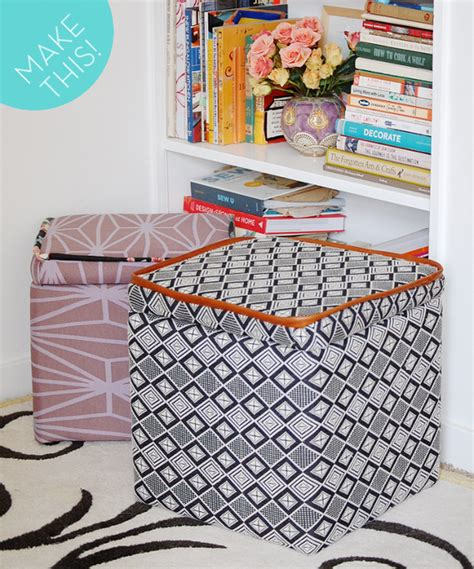 how to make an upholstered ottoman how to make and upholster a storage ottoman curbly