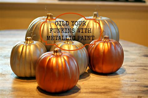 spray painting pumpkins how to gild pumpkins with metallic paint