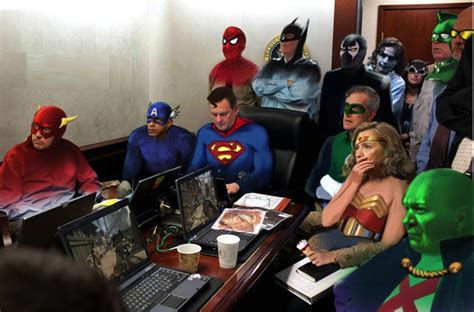 Situation Room Meme - things we saw today the superhero situation room the