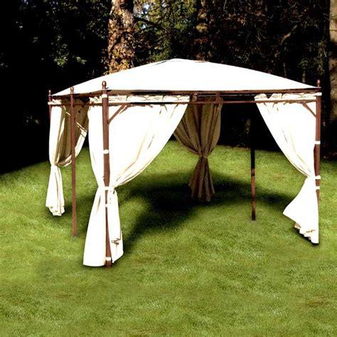 tonnelle de jardin avec rideaux rideaux beige sur c 226 ble 4 c 244 t 233 s pour tonnelle de jardin rectangulaire proloisirs