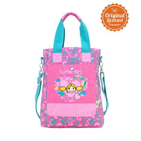 Slingbag Pink jual surfer slingbag flower pink tas sekolah anak