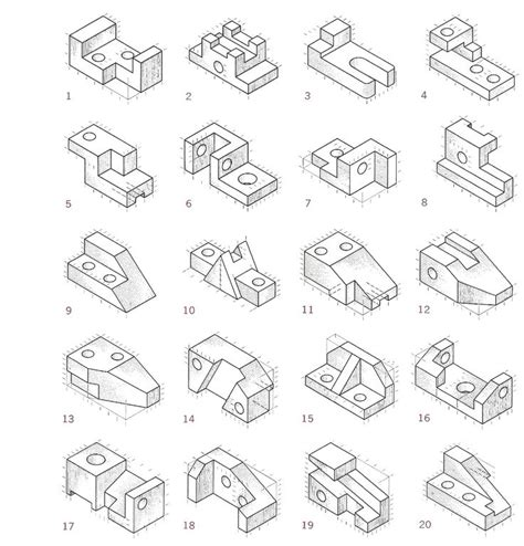 Drawing Exercises by Elevation In Orthographic Drawing The Front Back And