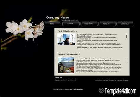 templates for website free download in flash free zoom gallery flash website template download