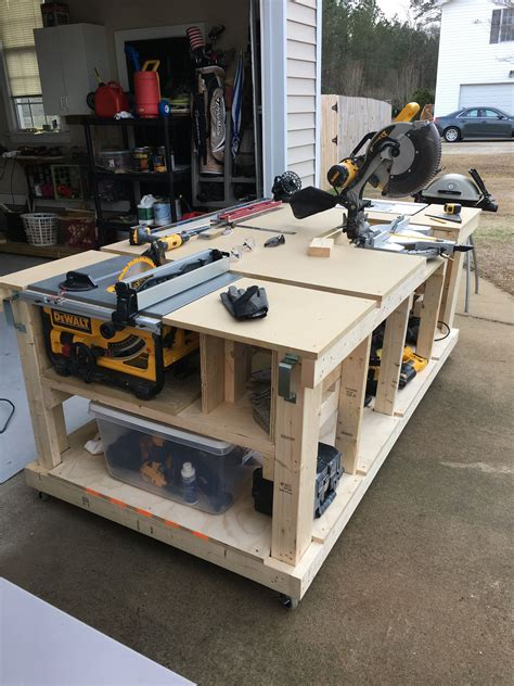 work bench garage  workshop woodworking bench plans
