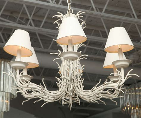 White Branch Chandelier White Faux Coral Branch Chandelier At 1stdibs