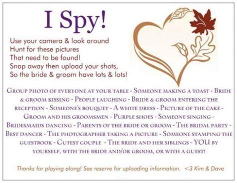 i spy wedding game ideas party invitations ideas